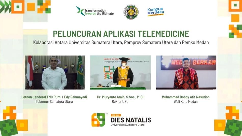 Puncak Dies Natalis Ke-69, USU Launching Telemedicine Covid-19